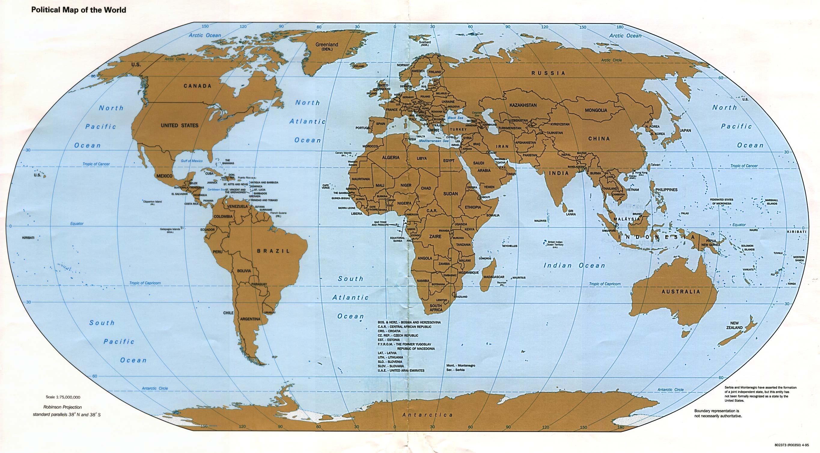 Reisenett Verdenskart