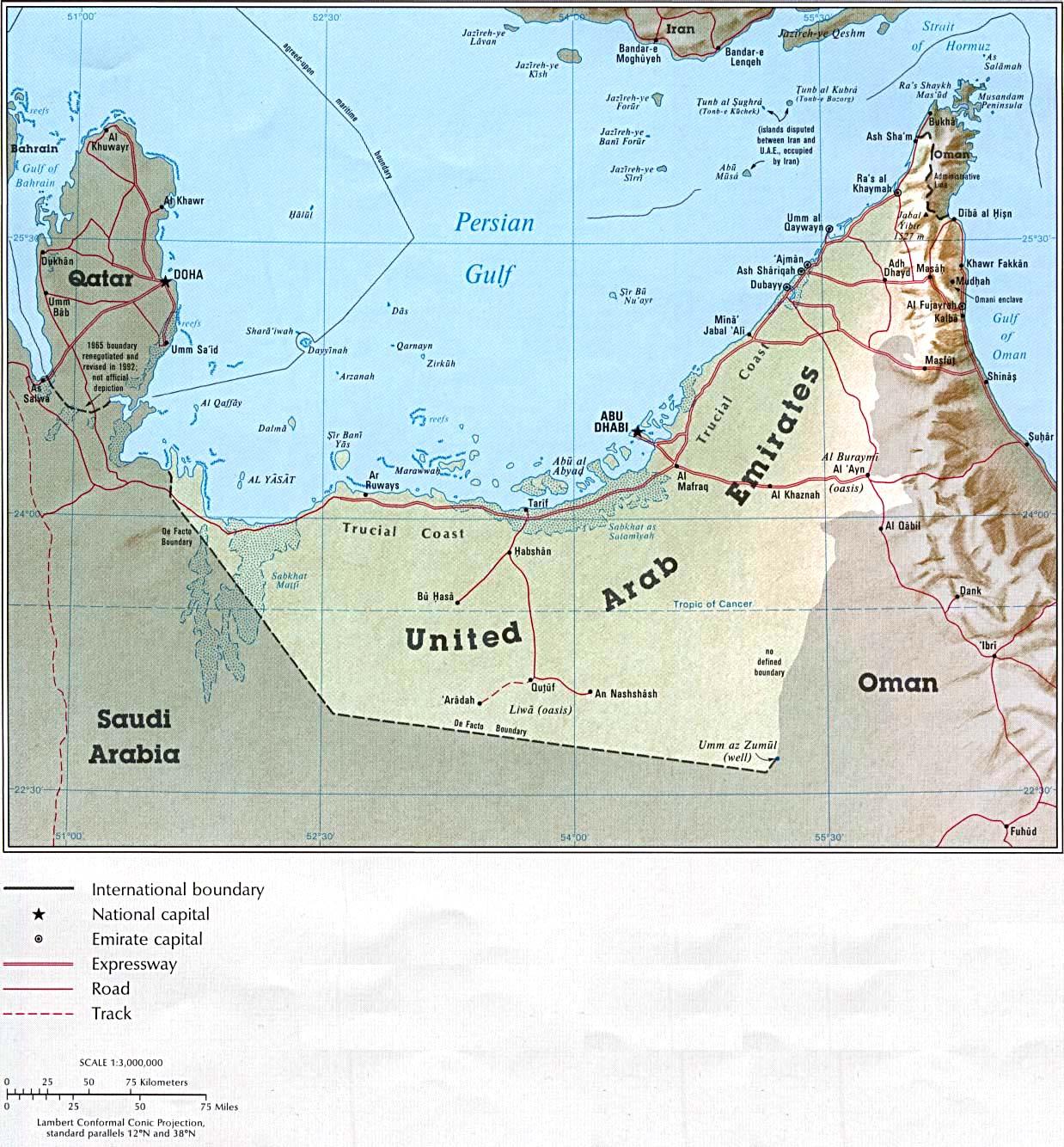 Travel UAE UAE map