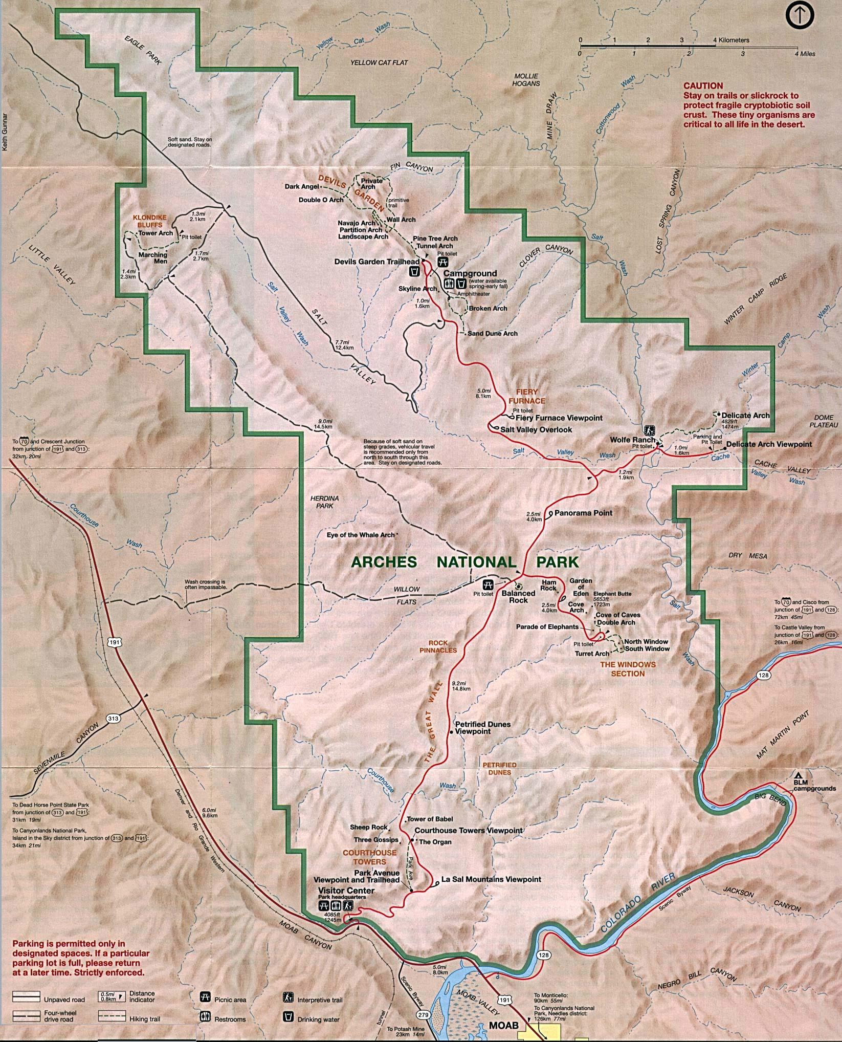 Reisenett: Maps of United States National Parks and Monuments