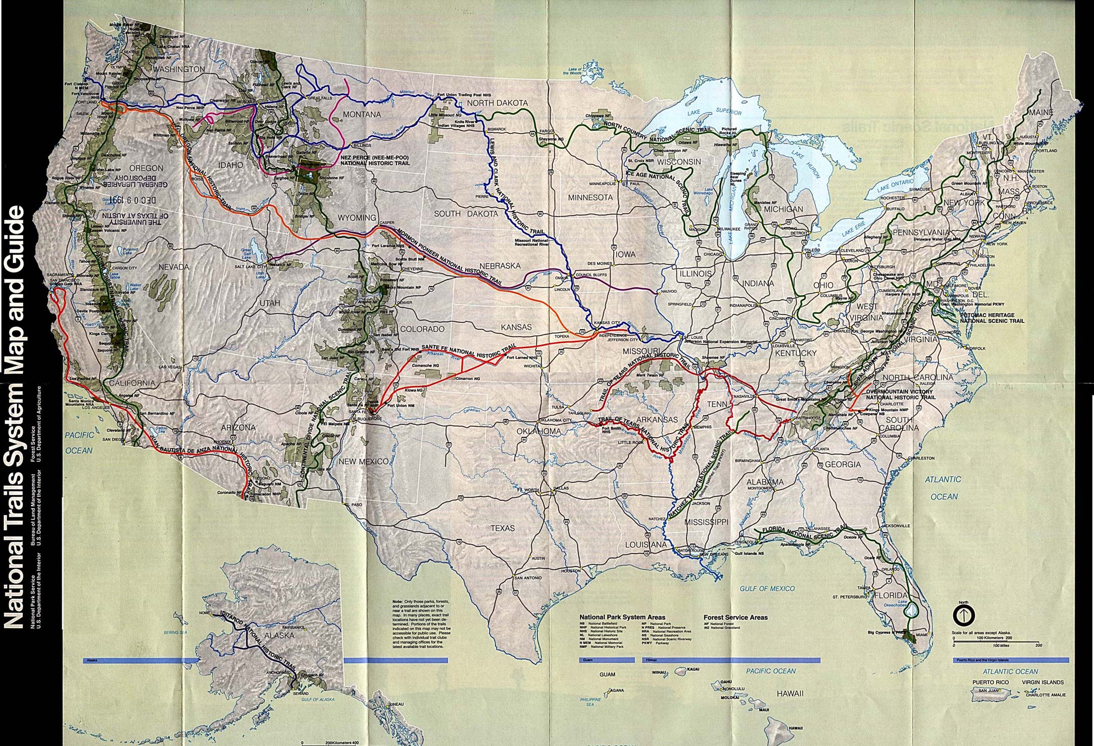 Reisenett: Maps of United States National Parks and Monuments