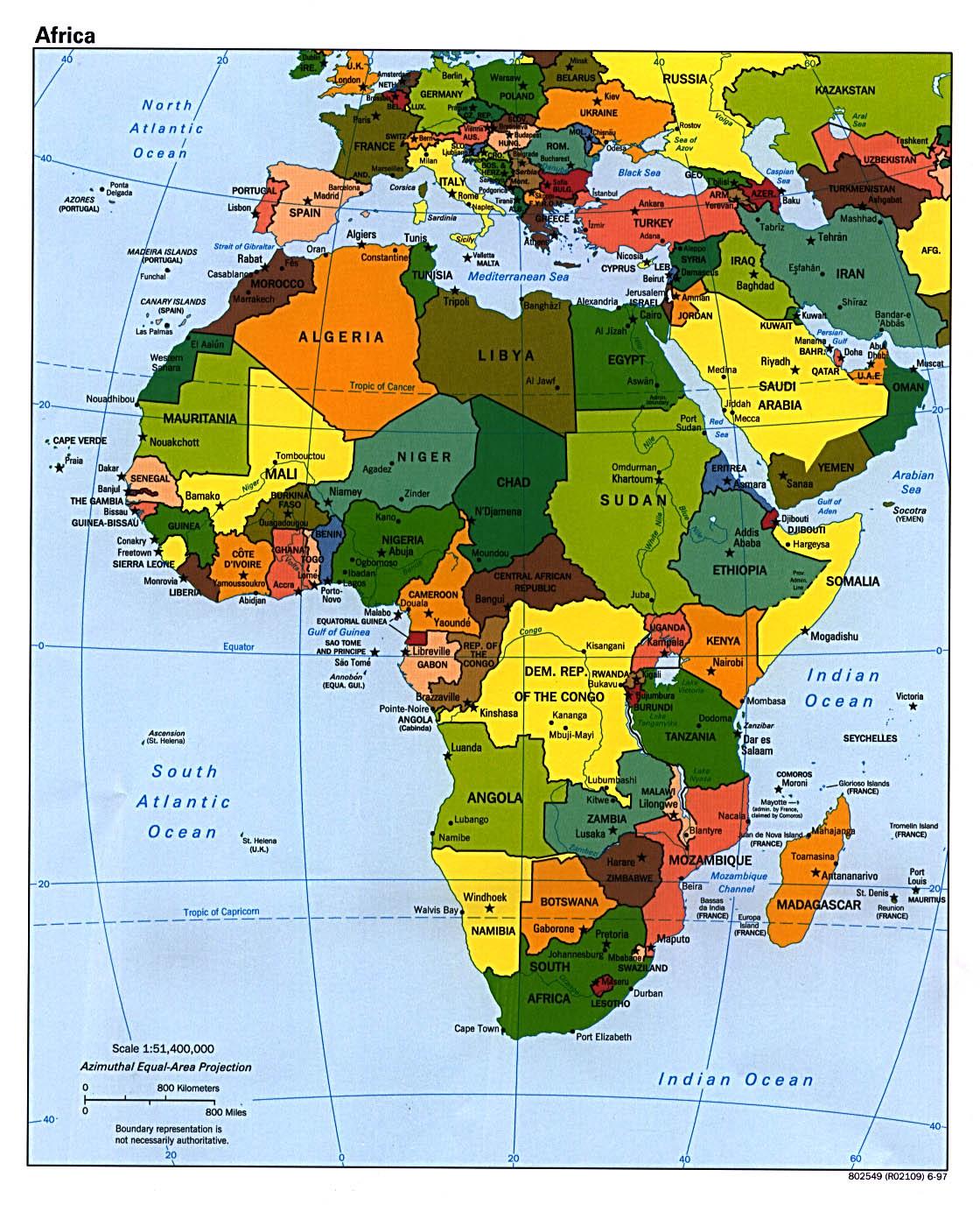 Reisenett Maps Of Africa - A map of africa