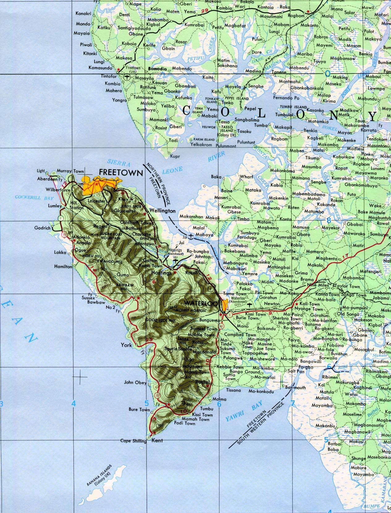 Reisenett Sierra Leone Maps - Sierra leone map