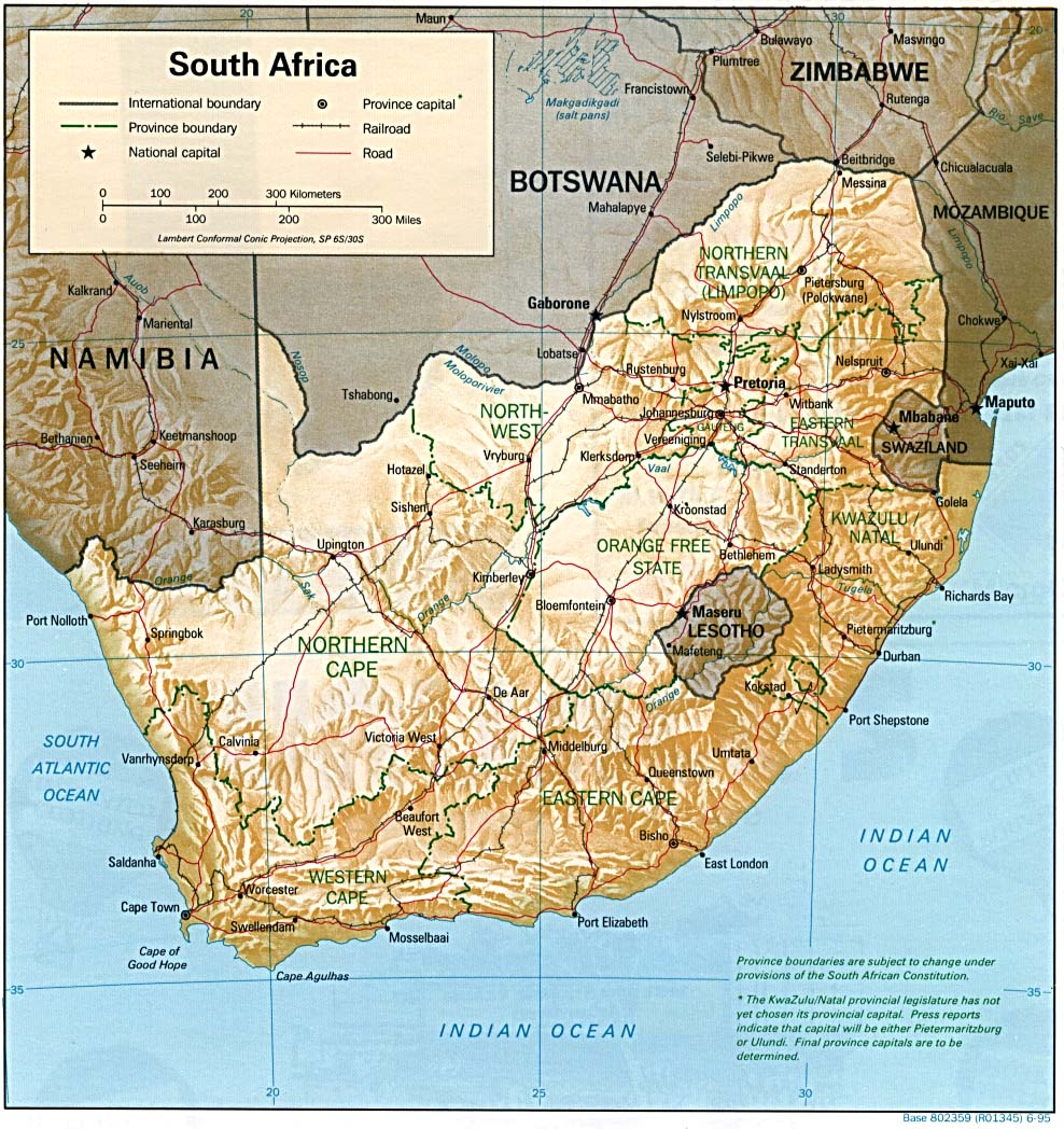 Reisenett South Africa Maps - South africa map