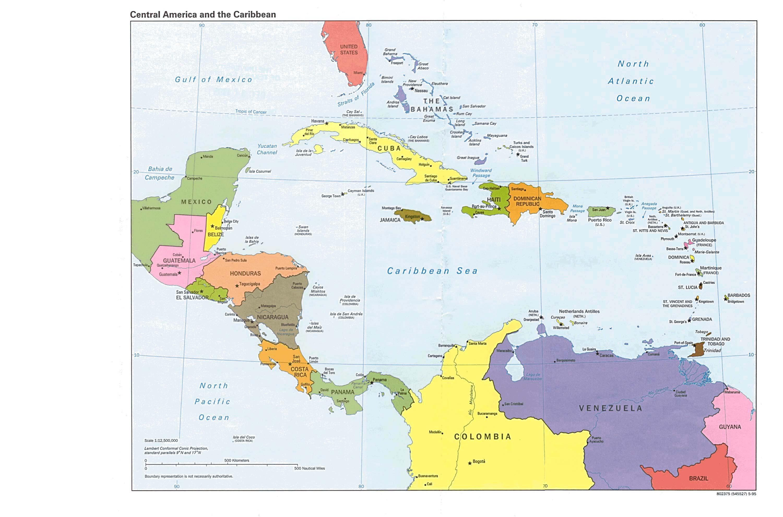 Reisenett Maps Of The Americas - Belize political map
