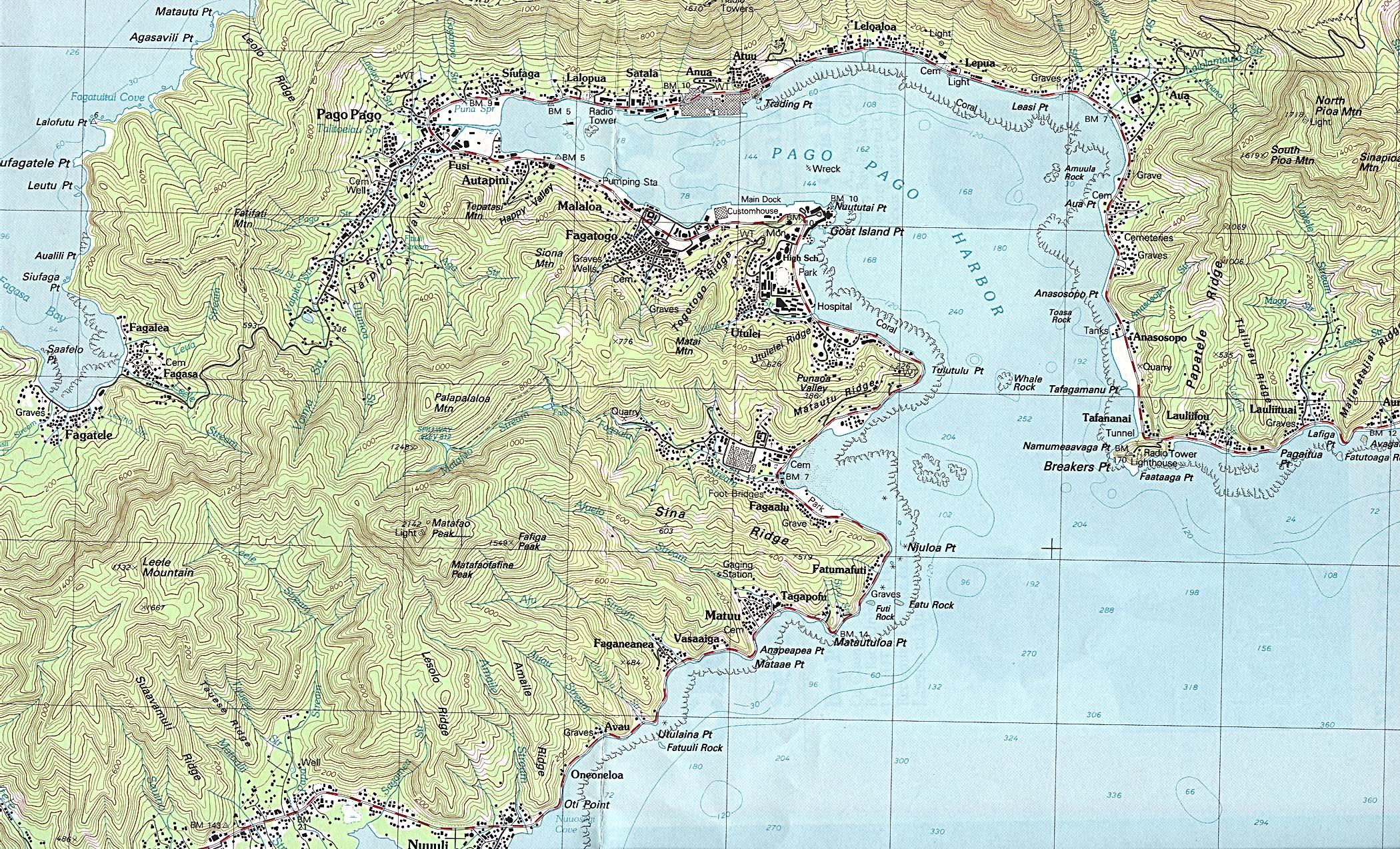 Reisenett American Samoa US External Territory - Map samoa
