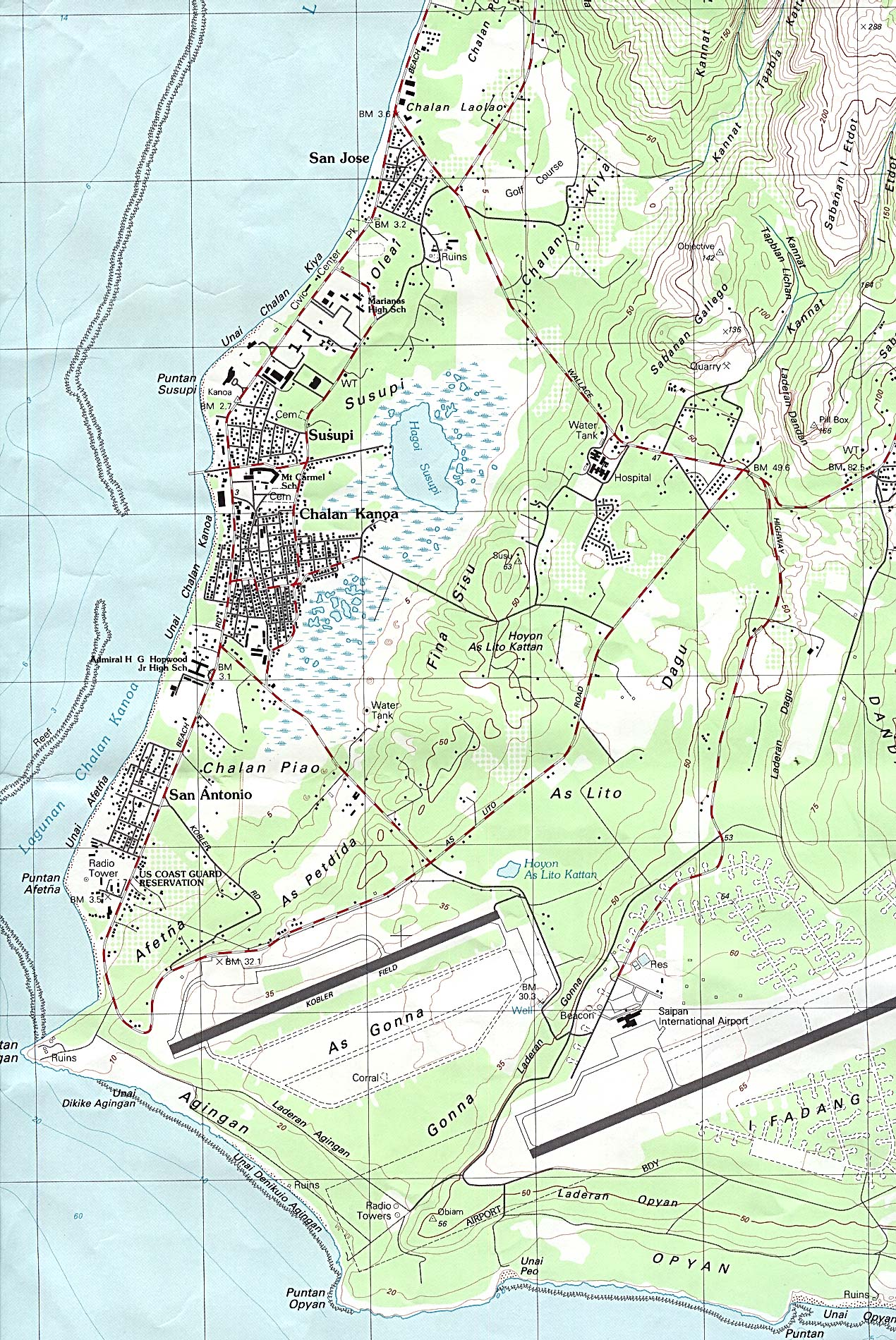insel guam map