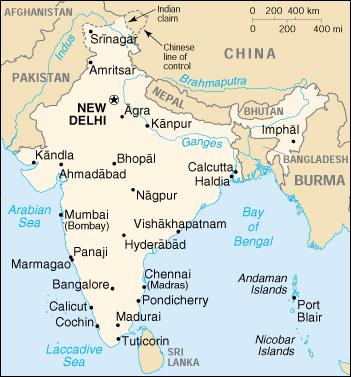 Cartina India Nepal.Reisenett India Maps