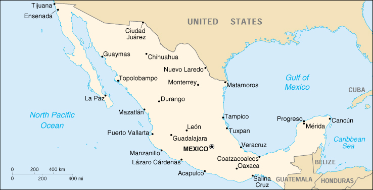 mexico small map 1999 81k