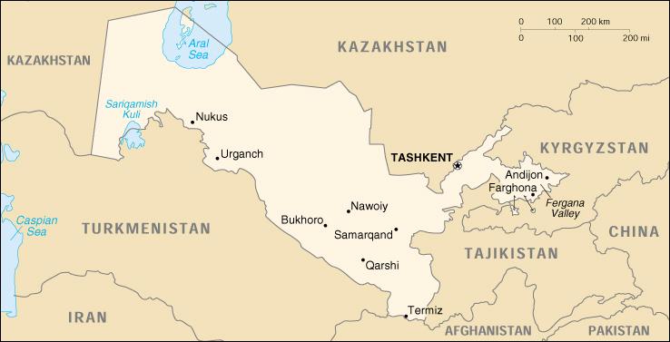 Reisenett Uzbekistan Maps