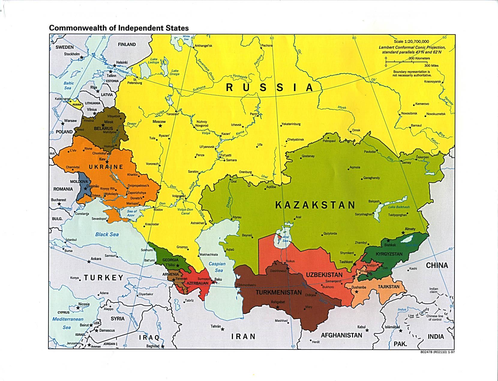 Reisenett Russia And The Former Soviet Republics Maps
