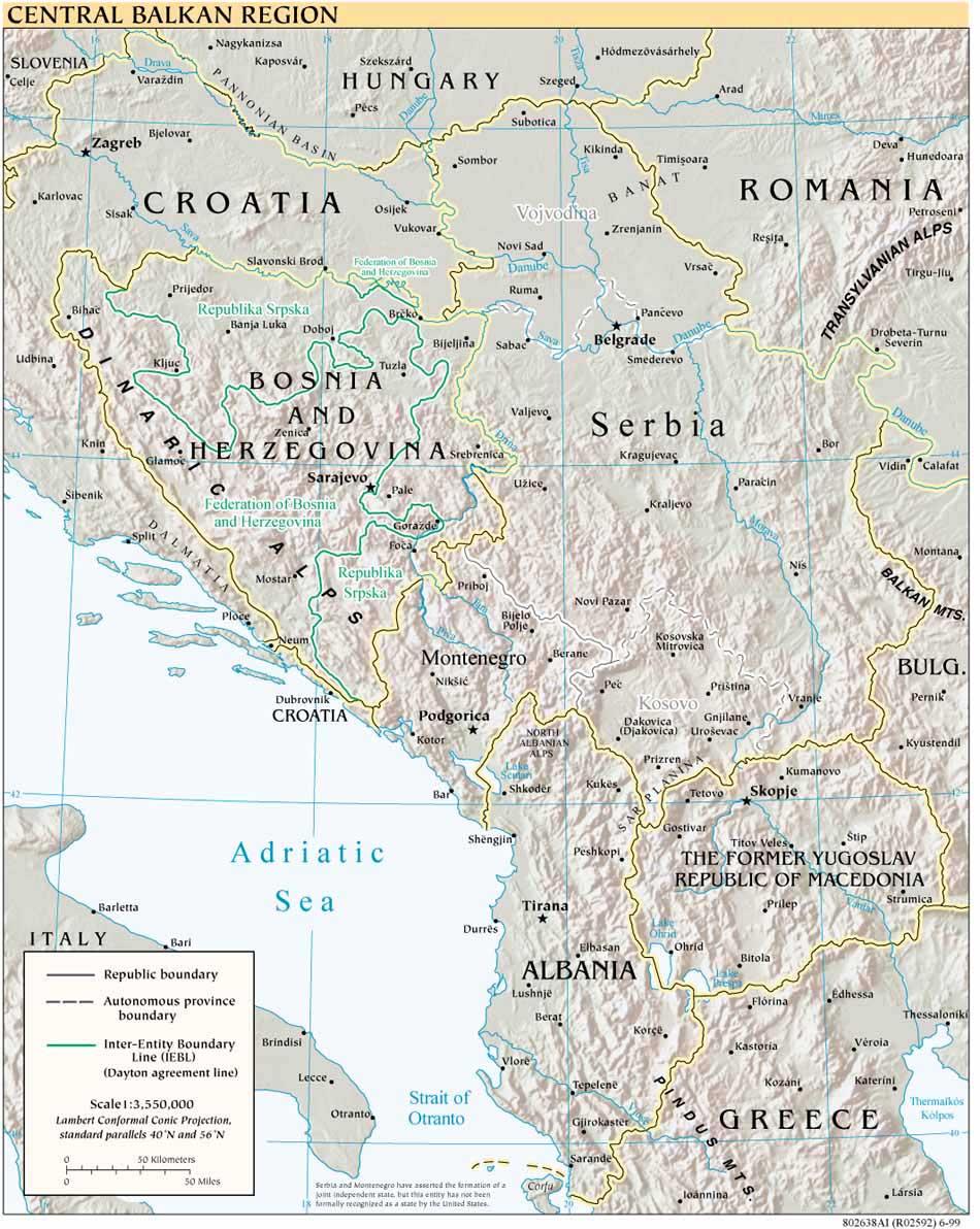 Reisenett Kosovo Maps
