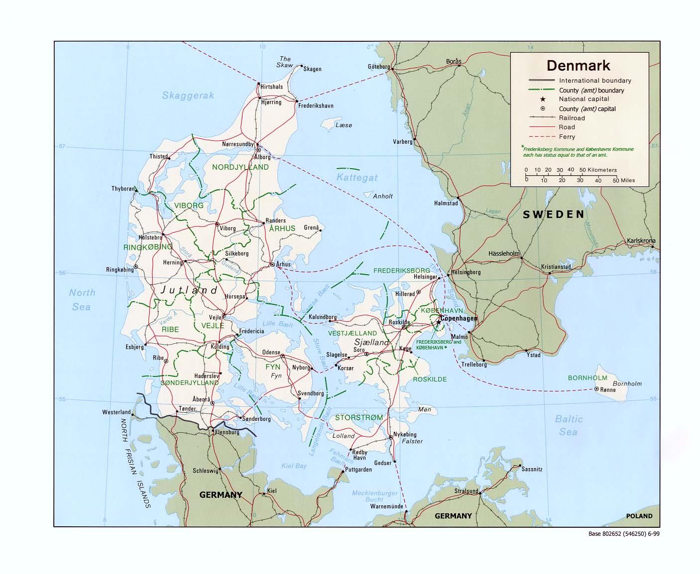 Reisenett Denmark Maps