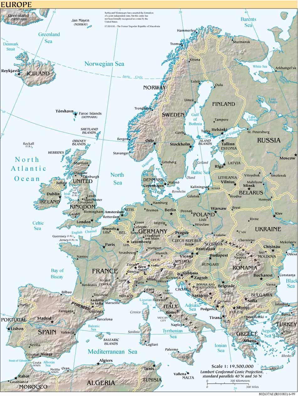Map Of Europe Europe