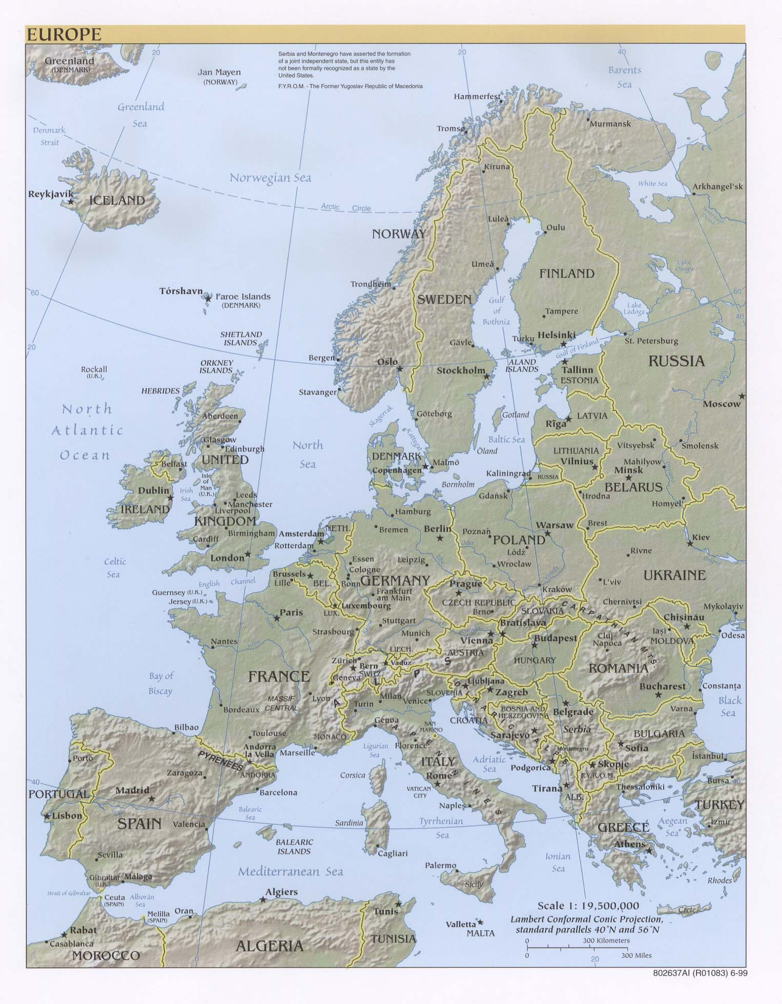 Reisenett Maps Of Europe - Aland islands political map