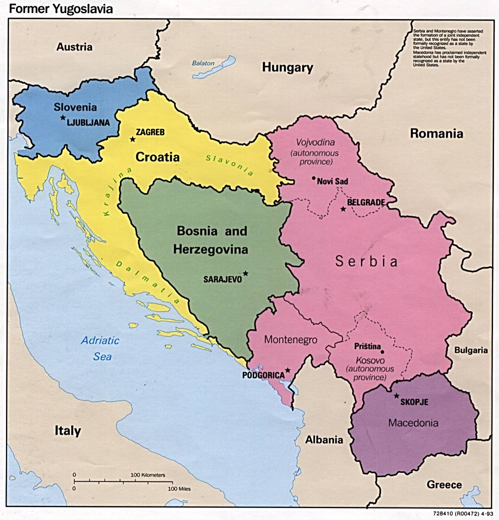 Map Of Europe Yugoslavia