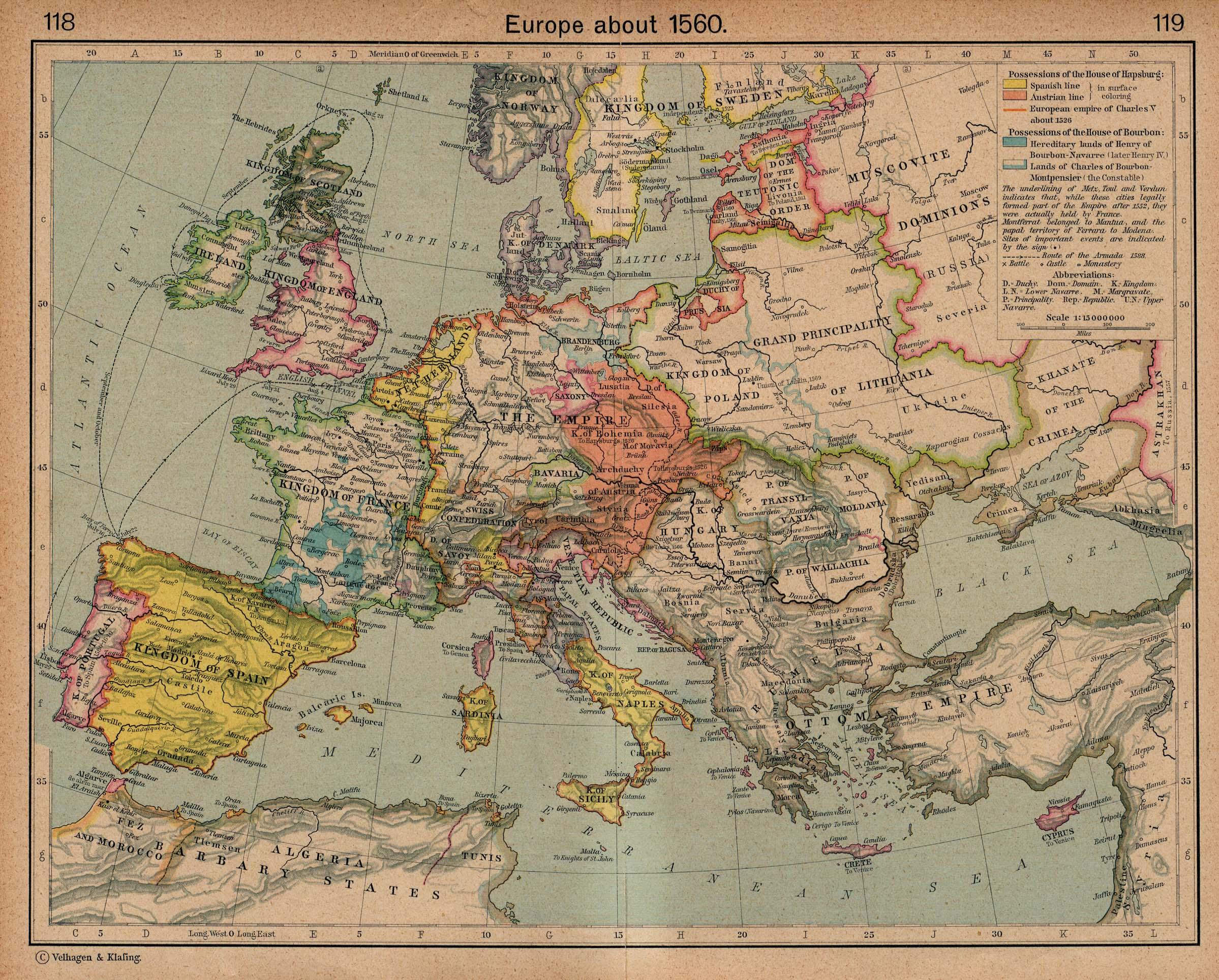 Reisenett Historical Maps of Europe