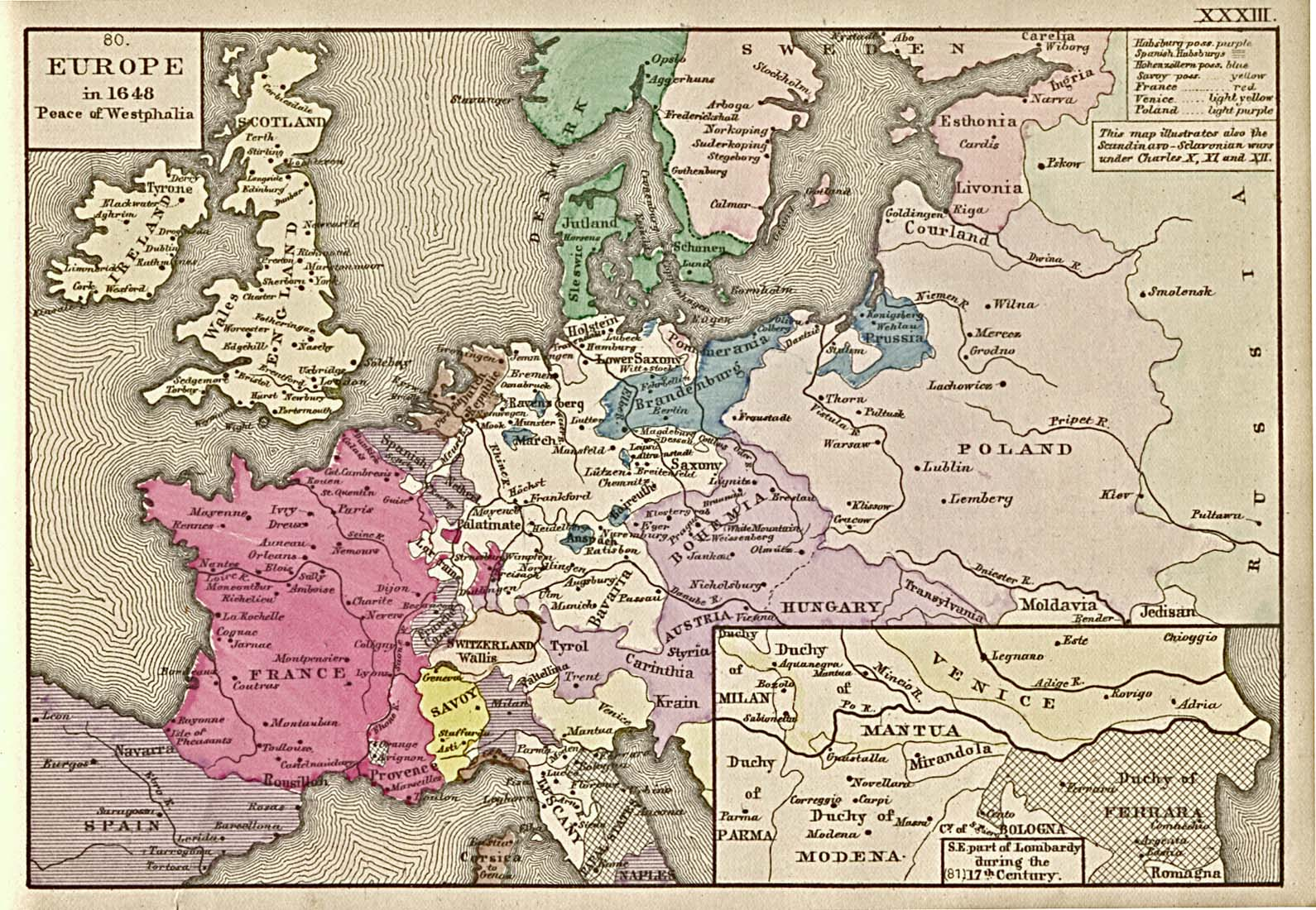 Reisenett historical maps of europe europe in 1648 peace of westphalia publicscrutiny Image collections