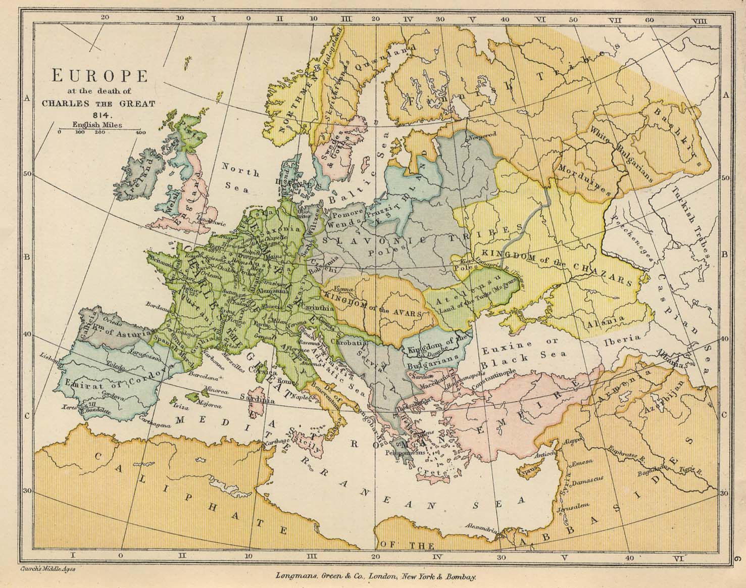 europe at the death of charles the great 814
