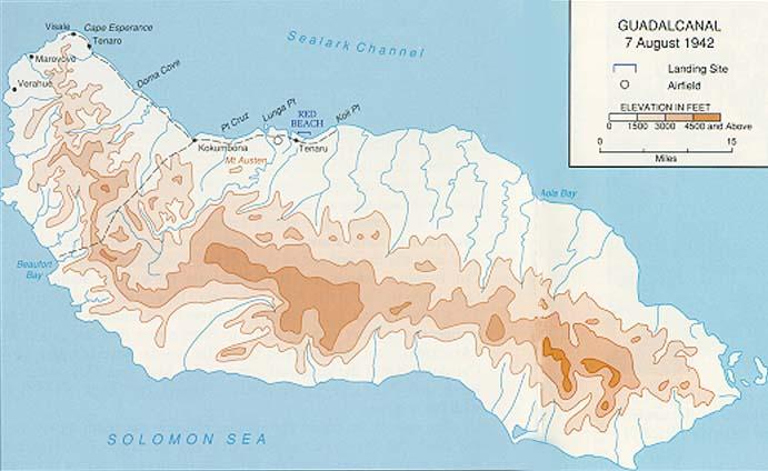 Map of Guadalcanal