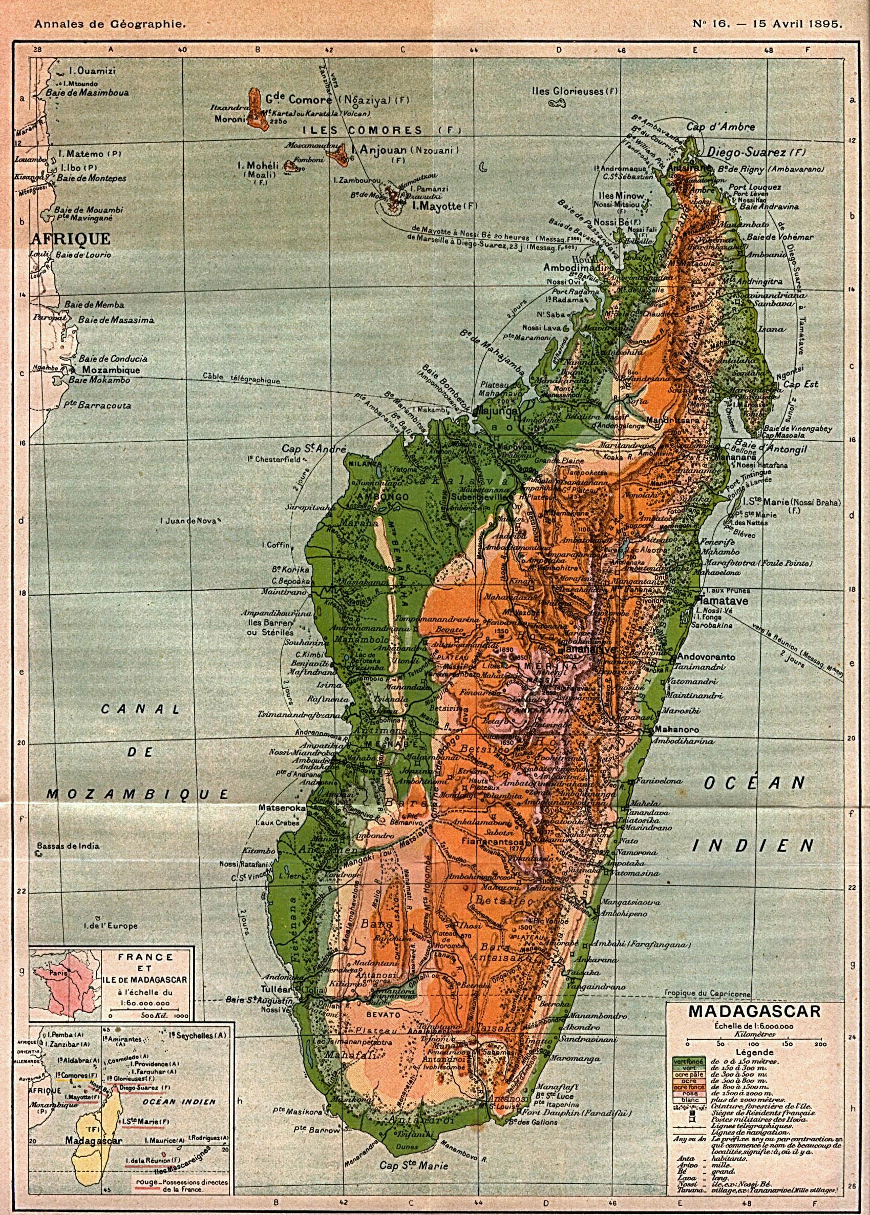 Reisenett Madagascar Maps