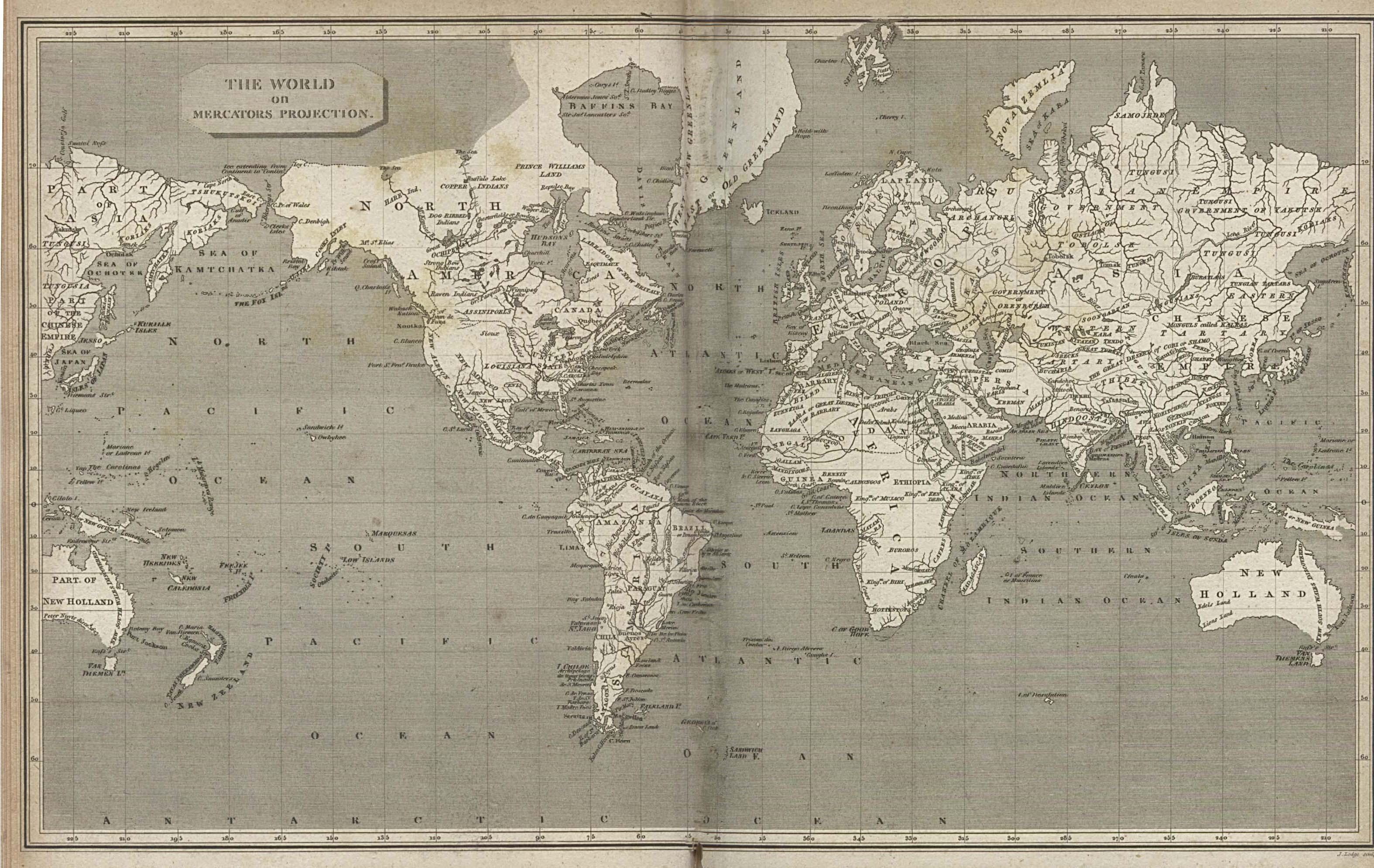 Maps World Map 1800