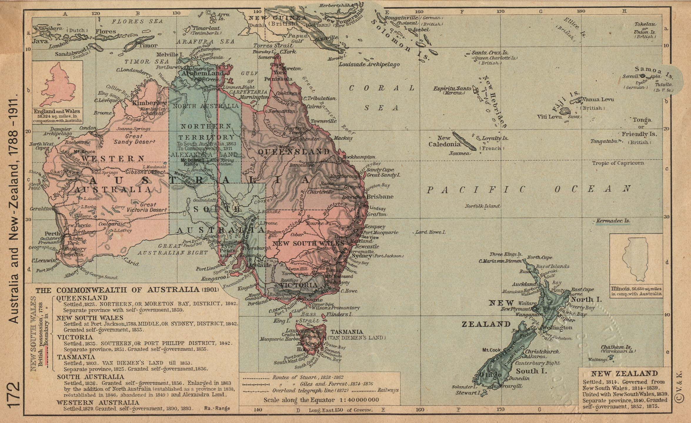 Reisenett historical maps of australia and the pacific australia and new zealand sciox Images