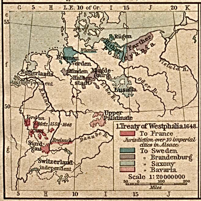 an analysis of the peace of westphalia in 1648 The doctrine was named after the peace of westphalia signed in the year 1648, which ended the thirty years war by the major continental european states and they all agreed to respect one another's territorial integrity.