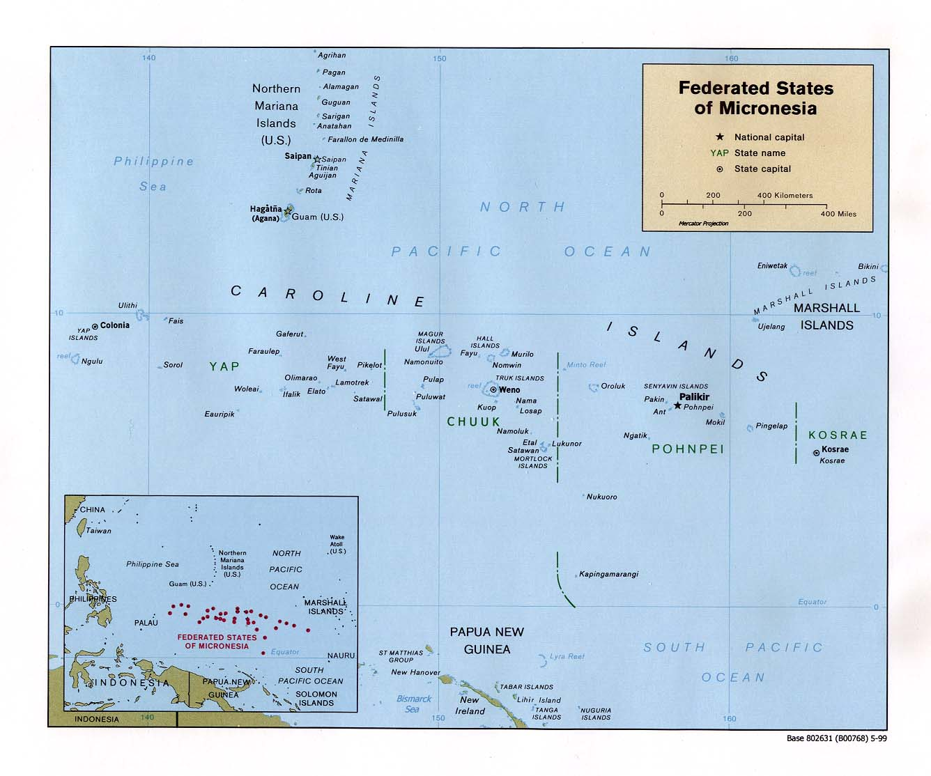Reisenett Federated States of Micronesia Maps