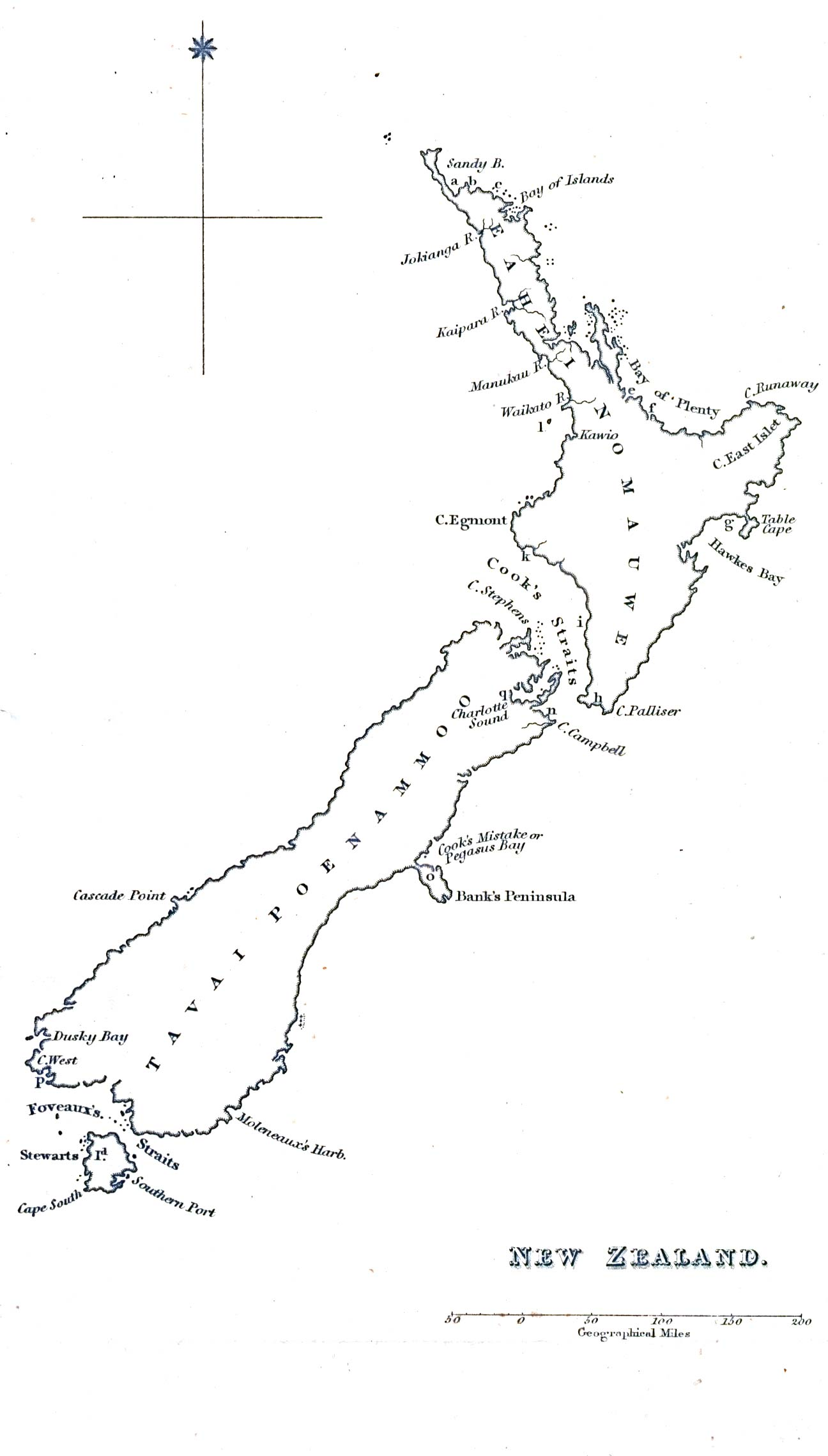 Line Drawing Of New Zealand : Reisenett historical maps of australia and the pacific