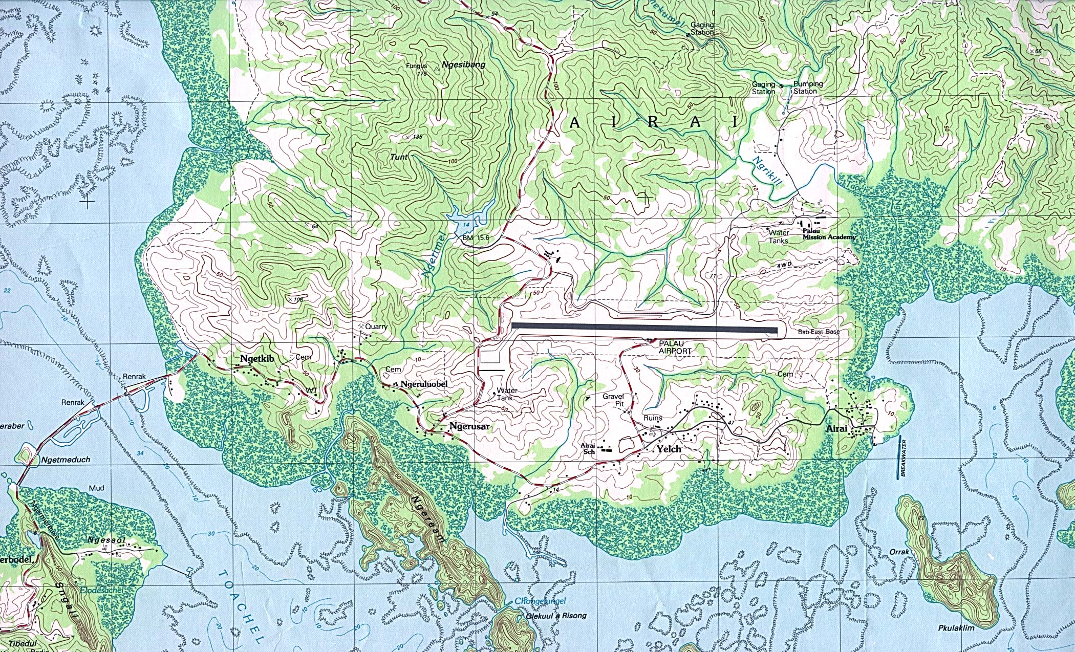 Reisenett Palau Maps - Palau map
