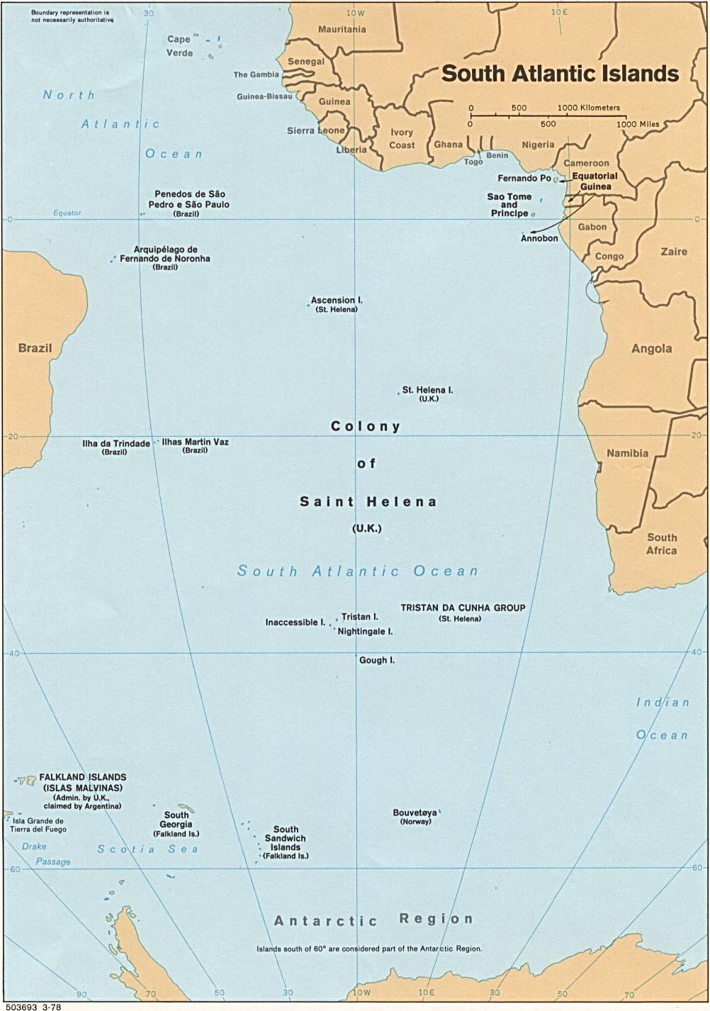 Reisenett maps of polar regions and oceans south atlantic ocean islands gumiabroncs Choice Image