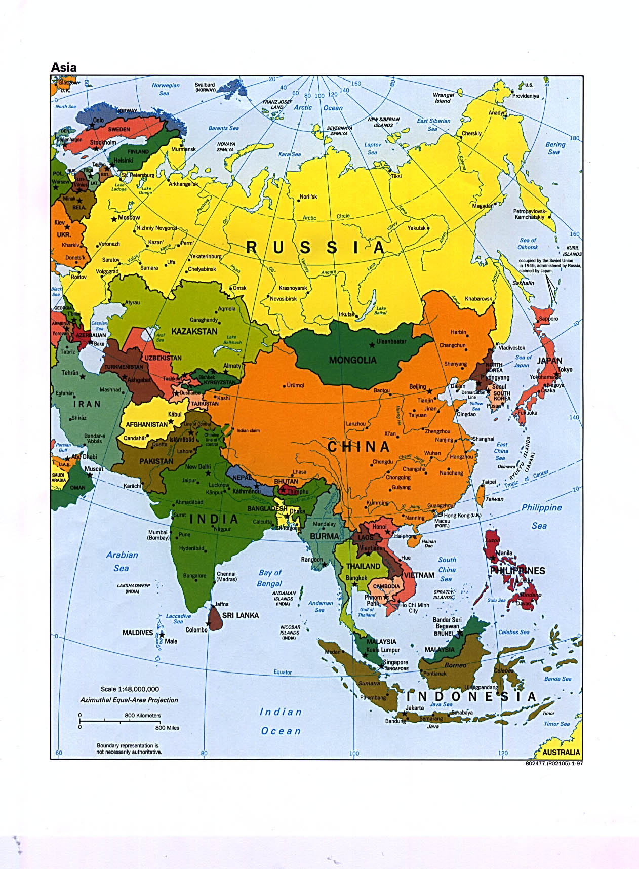 Reisenett Maps of Asia