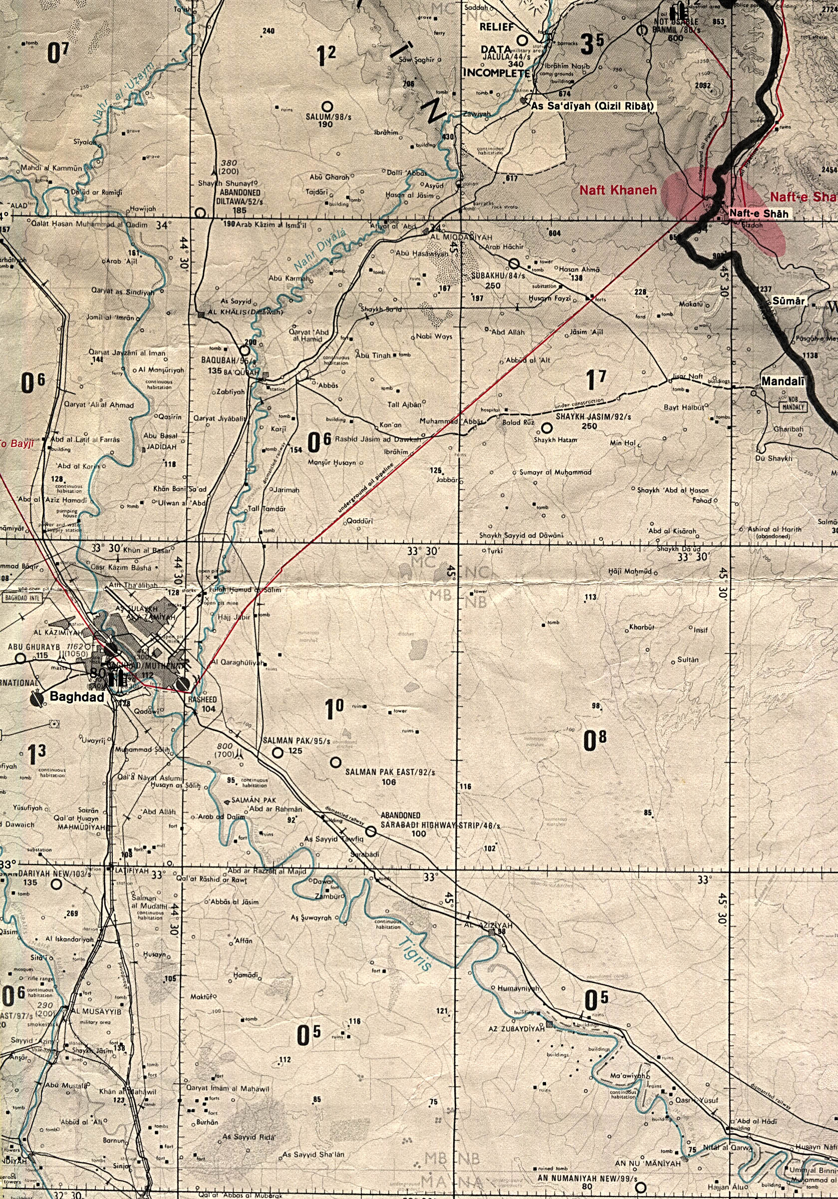 of southern iraq todmorden map