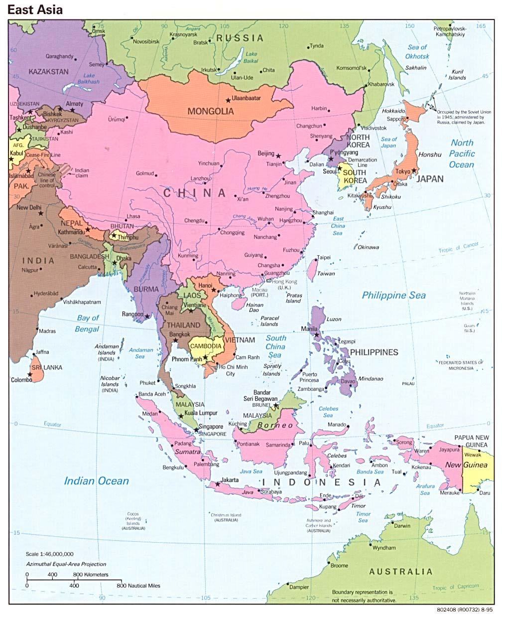 reisenett maps of asia