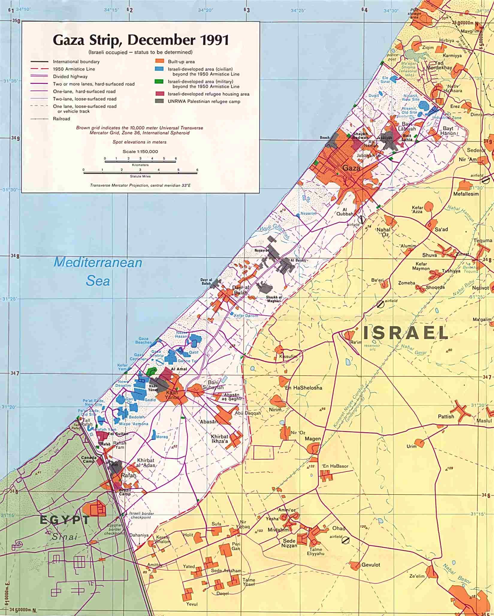 gaza strip . reisenett maps of the west bank and gaza