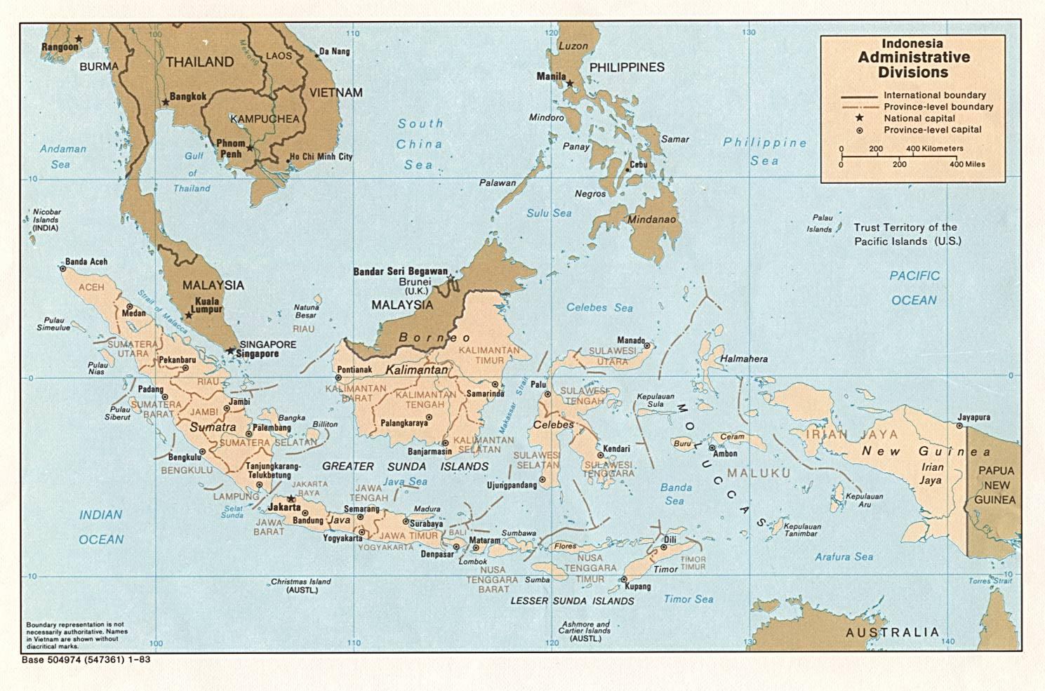 Reisenett Indonesia Maps