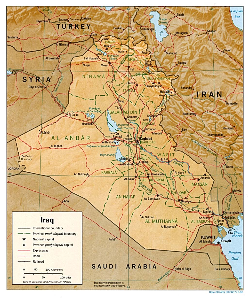 Reisenett Iraq Maps