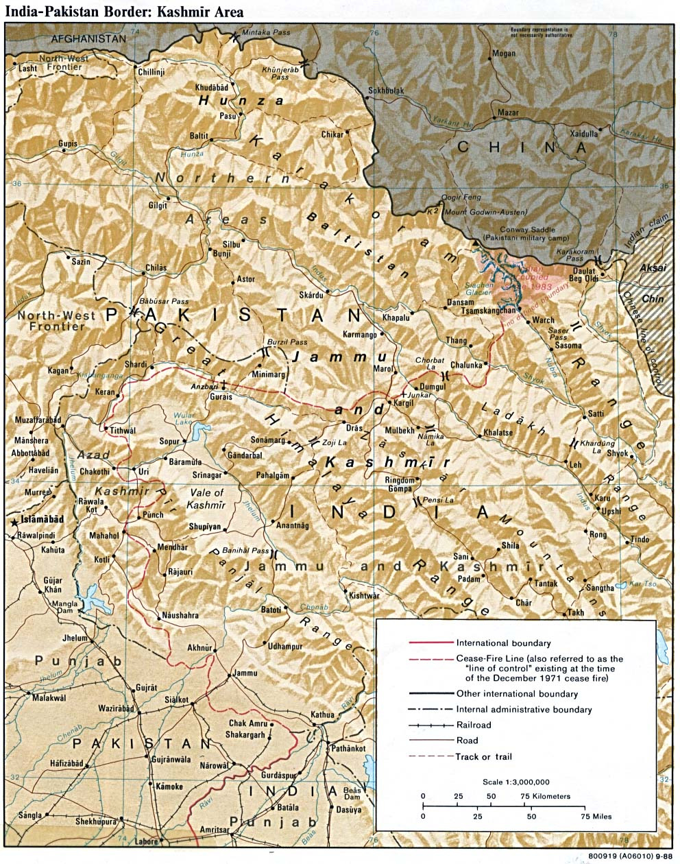 Map Of India And Pakistan Border.Reisenett Kashmir Maps
