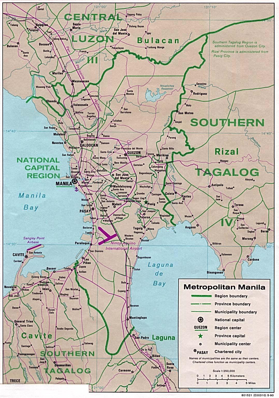 Reisenett Philippines Maps - Us embassy manila map