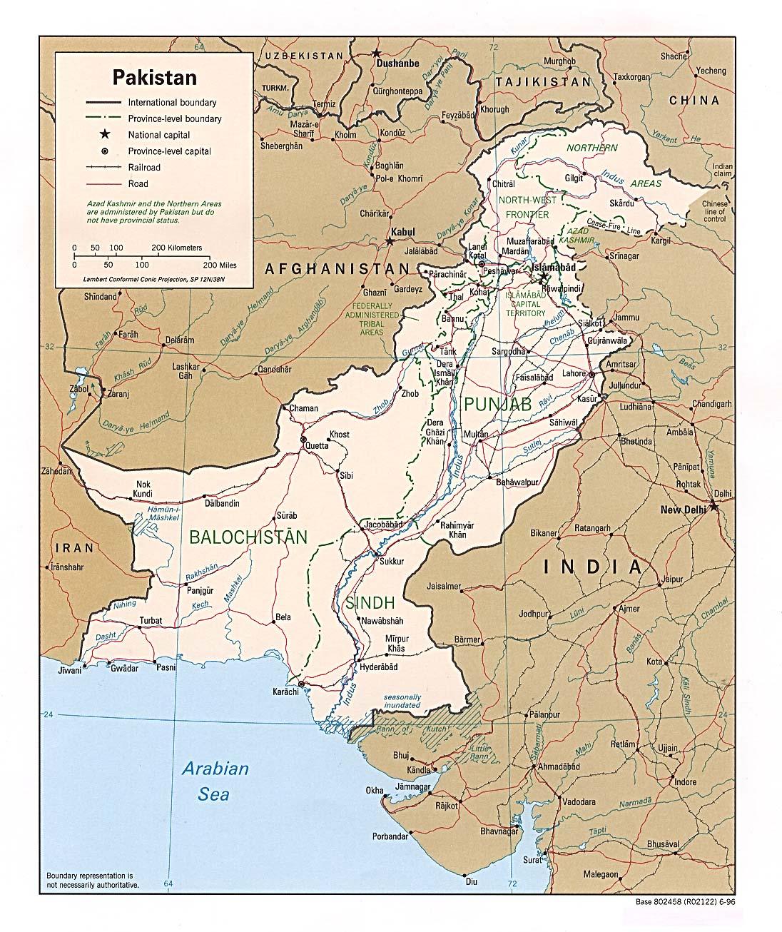 Reisenett Pakistan Maps - Maps pakistan
