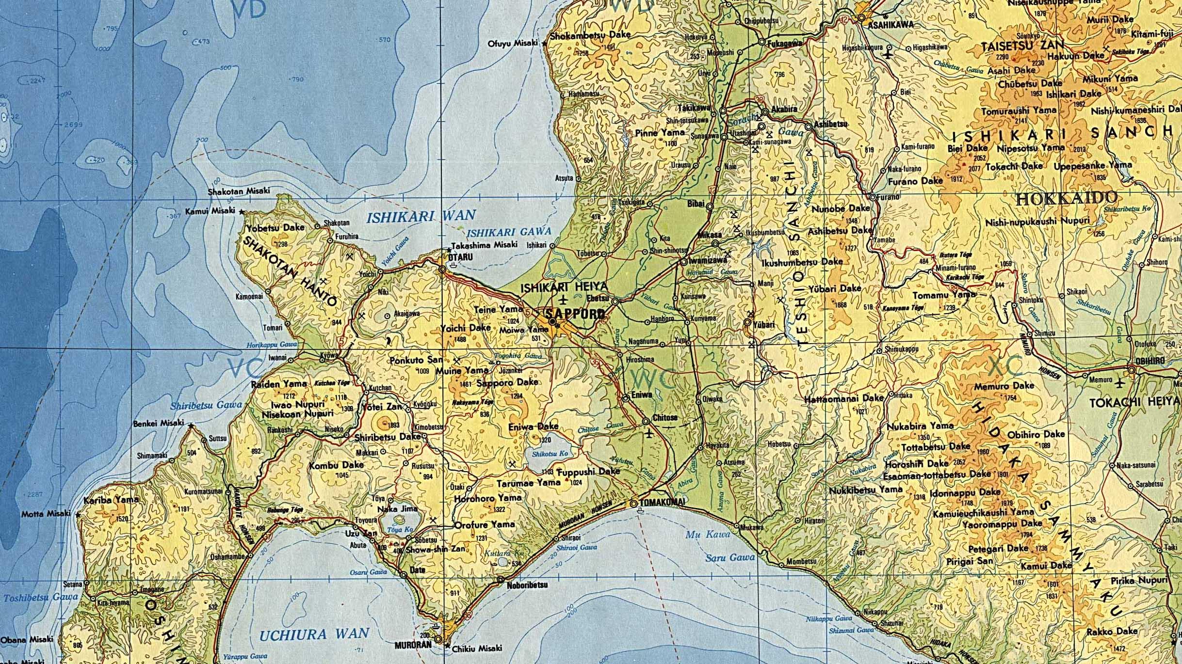 Reisenett Japan Maps - Japan elevation map