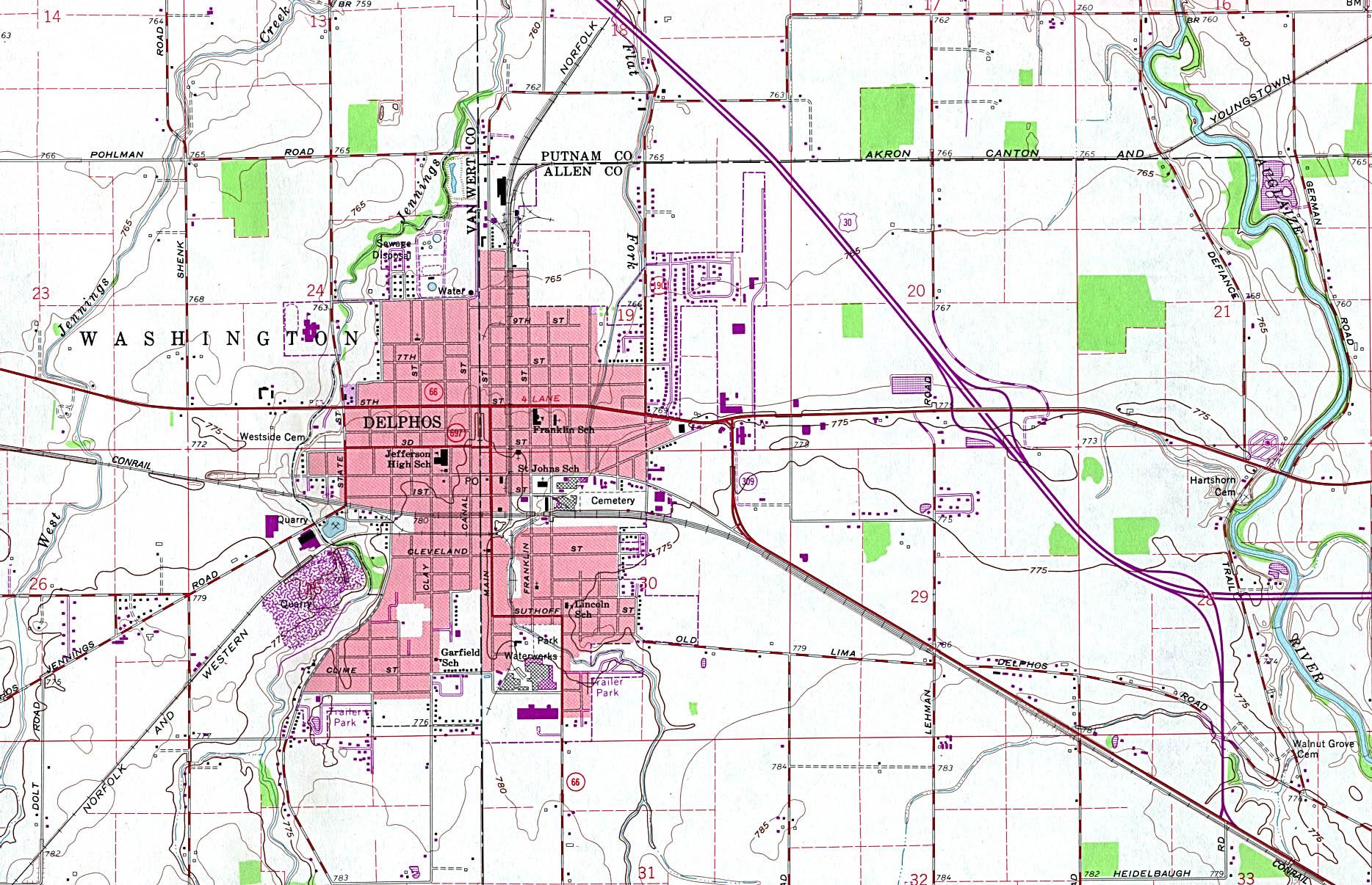 Reisenett: Ohio Maps