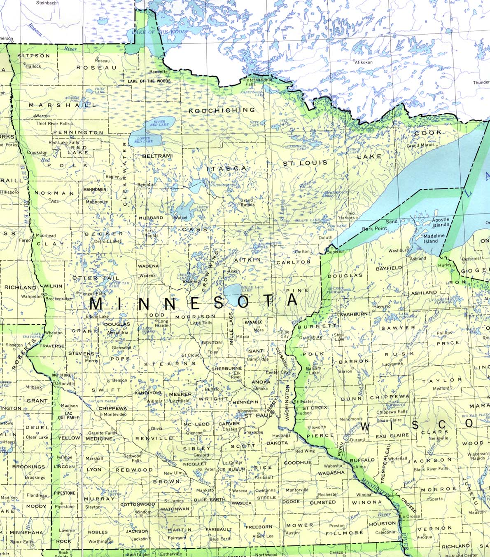 GeometryNet BasicM Minnesota Maps - Minn map