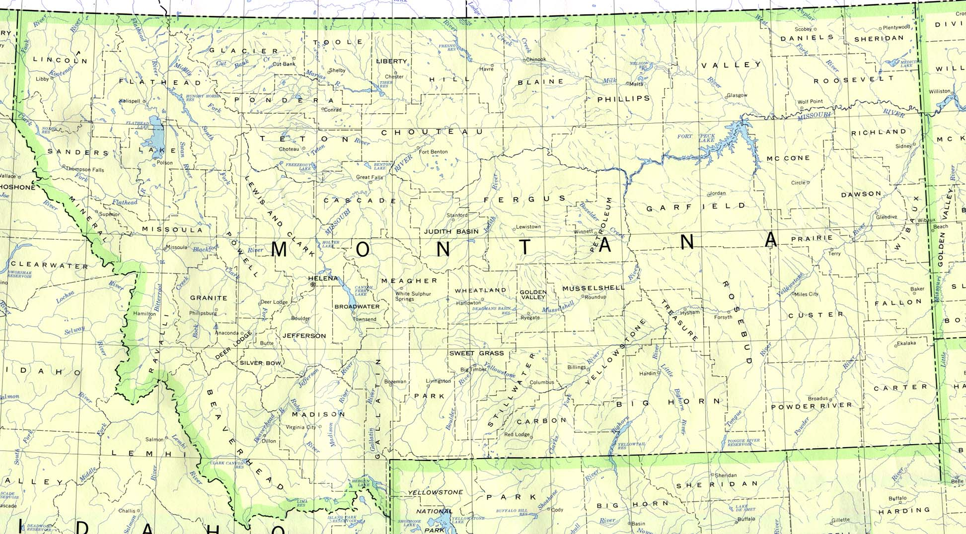 Montana State Map Related Keywords Amp Suggestions  Montana