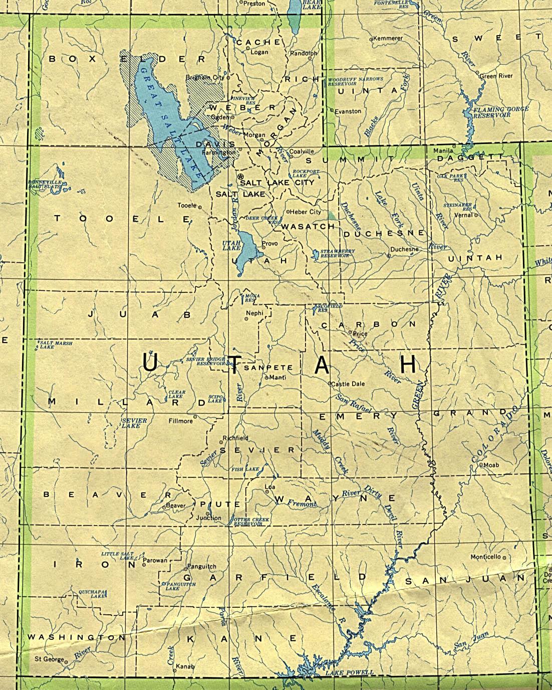 Us Map Utah