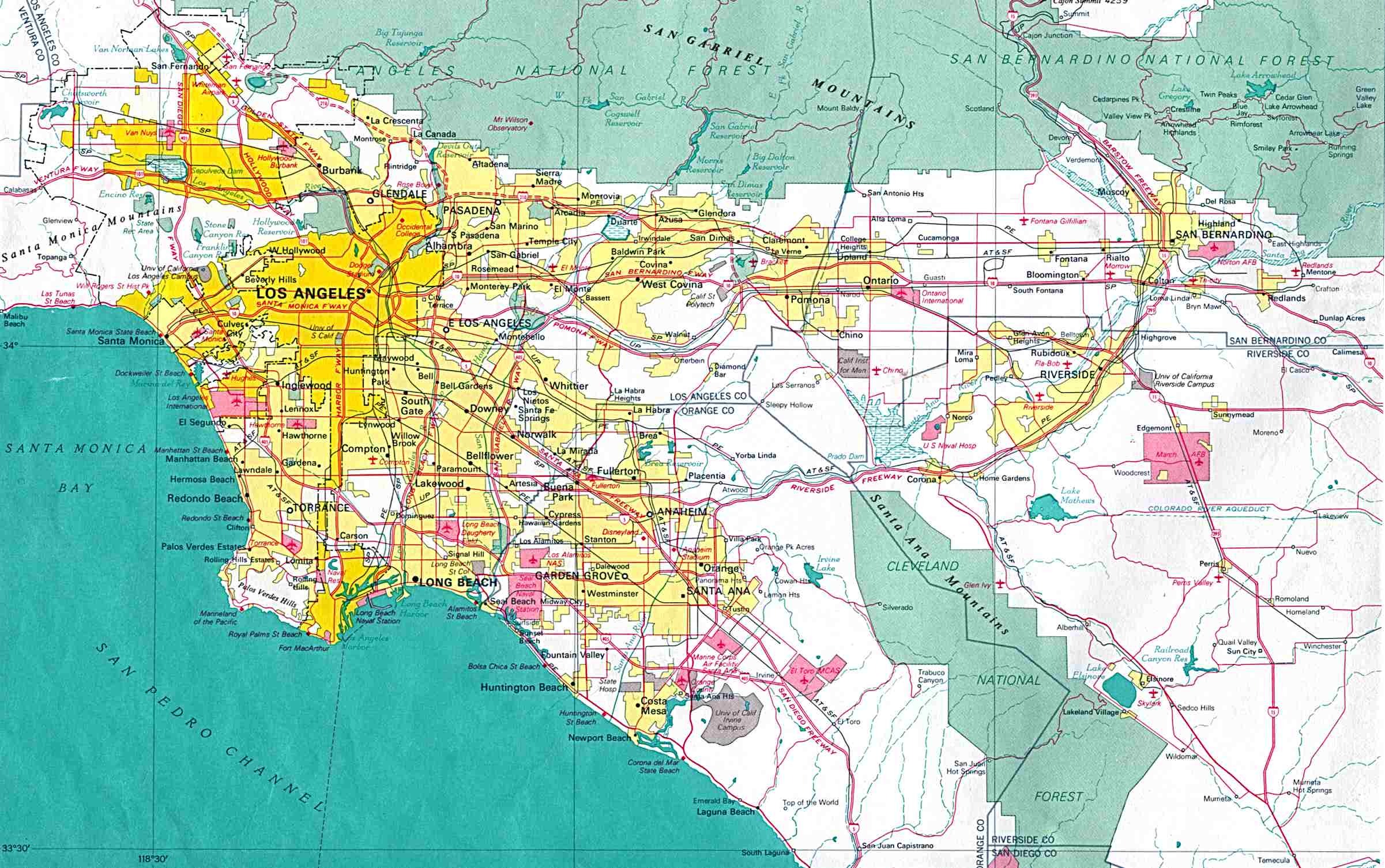 Reisenett California Maps - Southern california city map